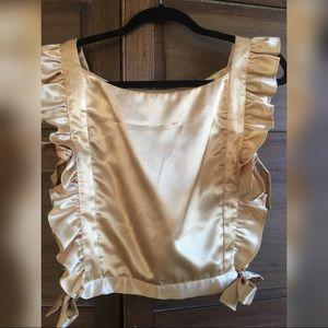 Vintage apron style gold top